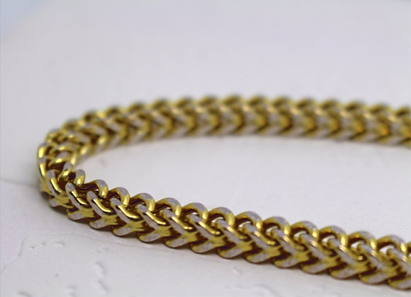 Franco Cut Link Yellow Gold