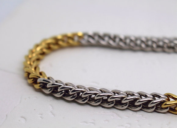 Franco Link Yellow & White Gold