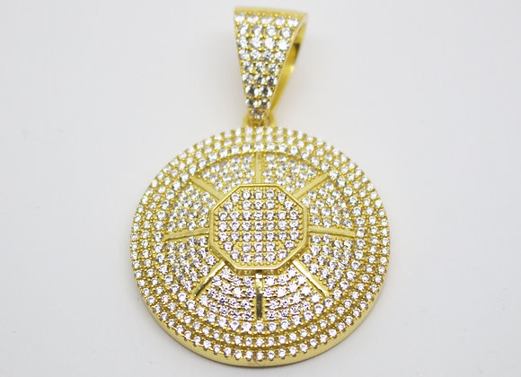 Silver Gold Plated Medallion Pendant