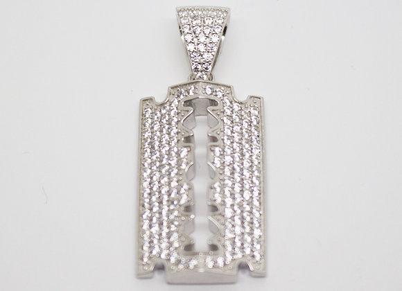 Silver Razor Pendant