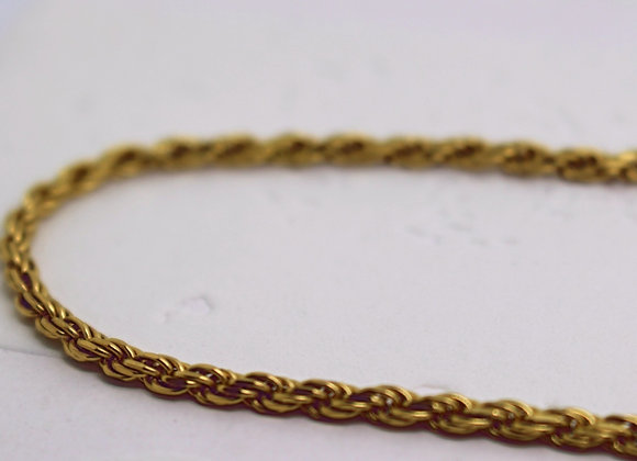 Rope Link Chain Yellow Gold