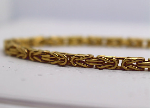 Byzantine Link Chain Yellow Gold