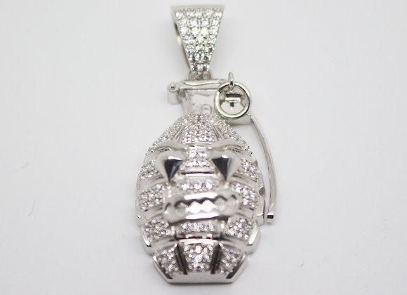 Silver Grenade Pendant