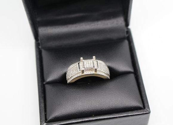 'Castle' Yellow Gold Diamond Ring