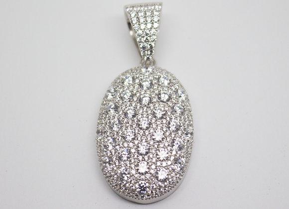 Silver Oval Medallion