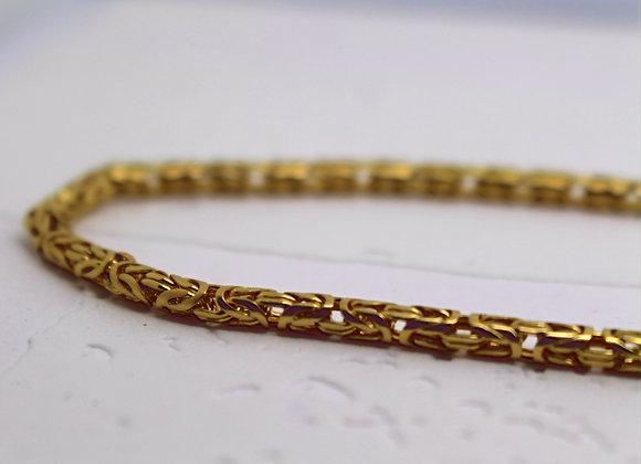 Byzantine Round Link Chain Yellow Gold