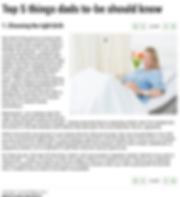 Victoria Keenan, Birth Zone.  Article publishd in Gulf news