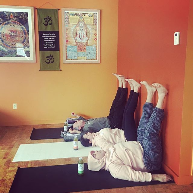 Legs up the wall asana - #viparitakarani