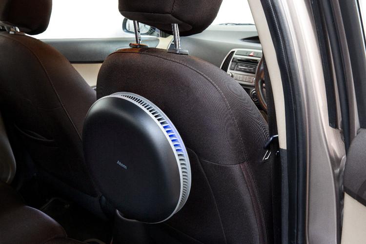 Inside Car view of IQAir Atem car