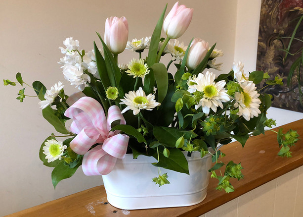 Spring Floral Arrangement with Tulips