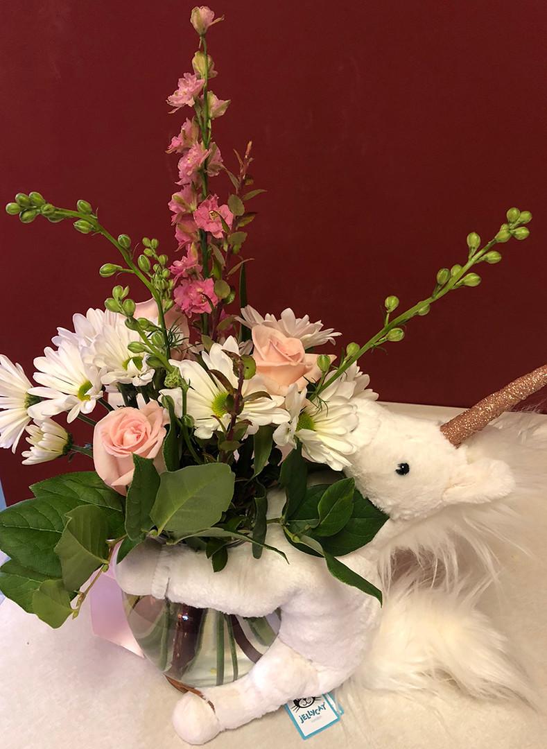 It's a Girl Custom Bouquet with Jellycat Add On