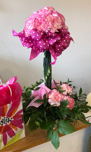 Pink Carnation Topiary