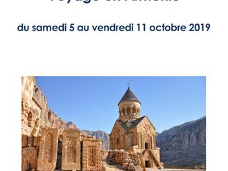 Voyage en Arménie du 5 au 11 octobre 2019