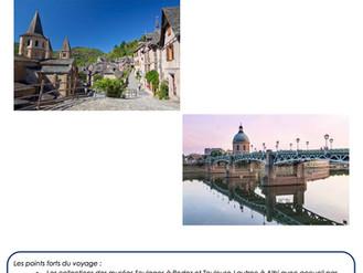 Programme voyage de Conques à Toulouse