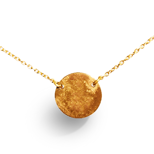 Everyday wear Collection- Gold disc Pendant