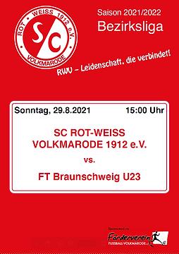 Cover - 2. Spieltag - Freie Turner U23