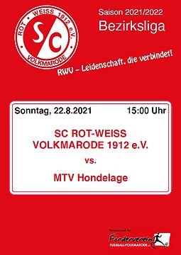 Cover - 1. Spieltag - Hondelage