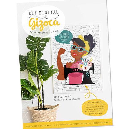 Kit Digital #7 - Cartaz Dia da Mulher