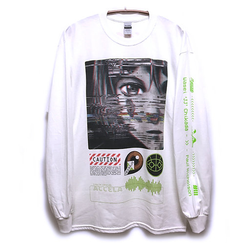 NUMBER 3【Paul Nicholson design】 Glitch Long sleeveT-shirt