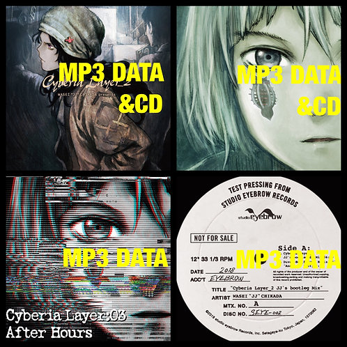 "CD Album ""Cyberia Layer_2"" & ""Cyberia Layer:03"" with MP3 Song data and more"