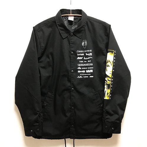 "JJ × messa store ""Cyberia Layer:03"" Logotype Coach Jacket"
