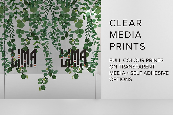 CLEAR MEDIA PRINTS