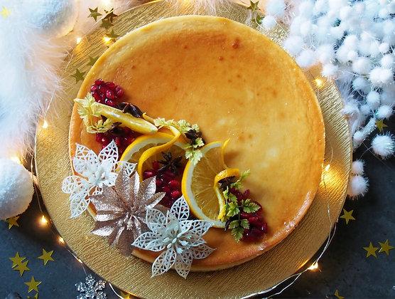 Mummy Vanilla-orange Christmas cheesecake