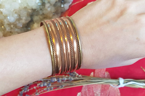 Copper Bangle - magnetic