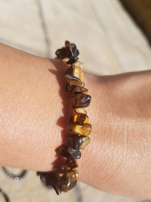 Tigers Eye chip bracelet (small)