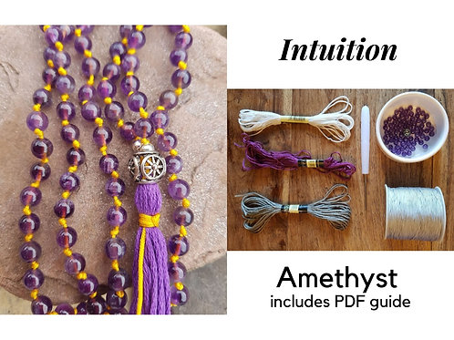 Amethyst DIY Mala Kit