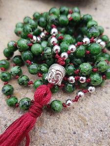 Crystal Japa Mala Meditation Necklace