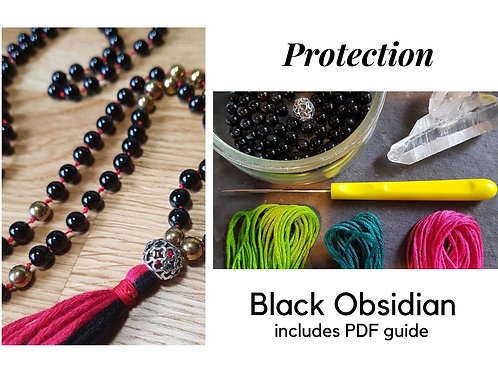 Black Obsidian DIY Mala Kit