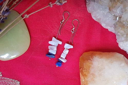 Lapis lazuli & Blue Lace Agate earrings