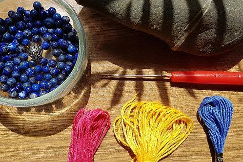 Lapis Lazuli DIY Mala Kit