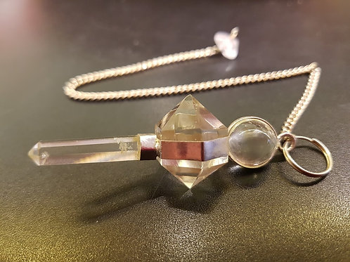 Clear Quartz Pendulum with Point