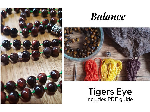 Tiger's Eye DIY Mala Kit
