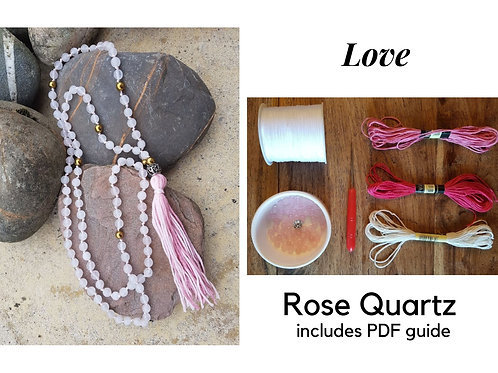 Rose Quartz DIY Mala Kit