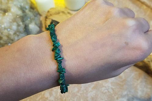 Malachite chip bracelet / anklet