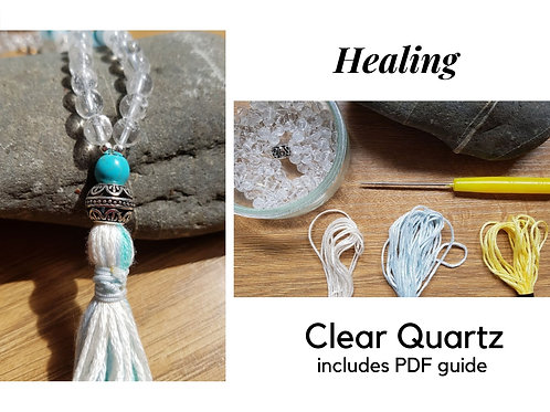 Clear Quartz DIY Mala Kit