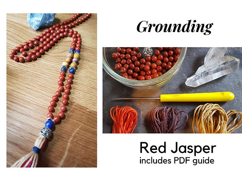 Red Jasper DIY Mala Kit