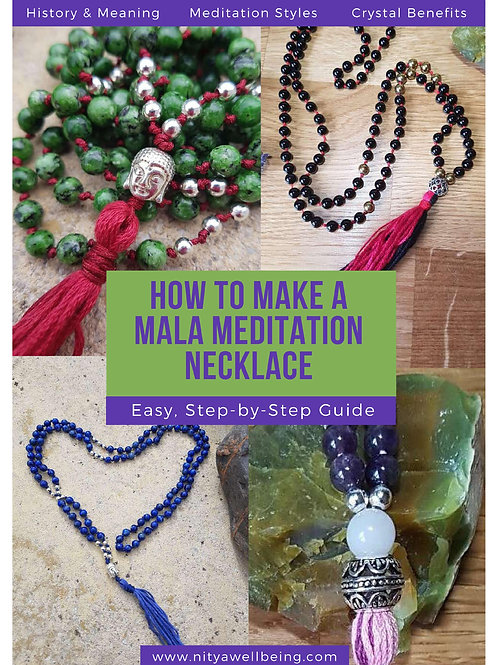 DIY Mala Meditation Necklace PDF Guide