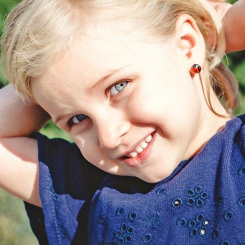 Kids Ladybug Earrings