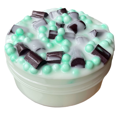 Mint Chip Ice Cream - 8 oz Thick & Glossy Slime