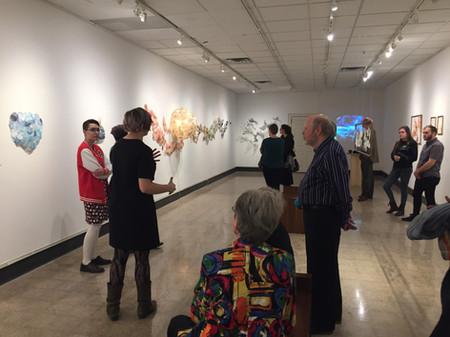 Artist talk at opening reception