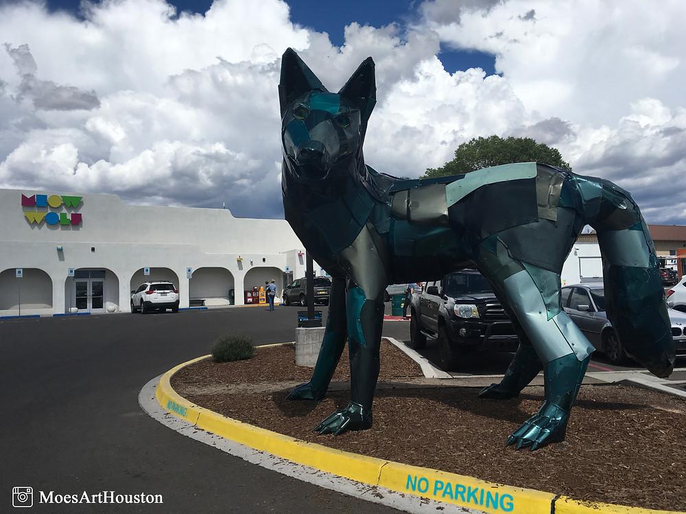 big ass wolf outside