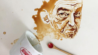 Java Art-Painting with Coffee