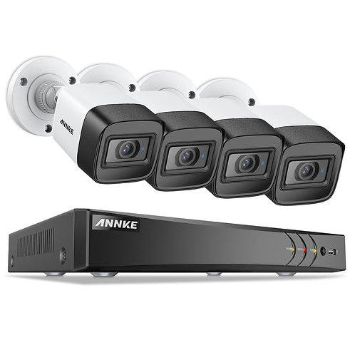 Annke övervakningssystem 8-kanals 4K  Video Security System med 4 kameror