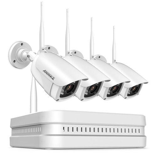 Annke 1080P FHD trådlöst NVR-kit med IP-kameror
