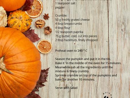 Pumpkin crumble