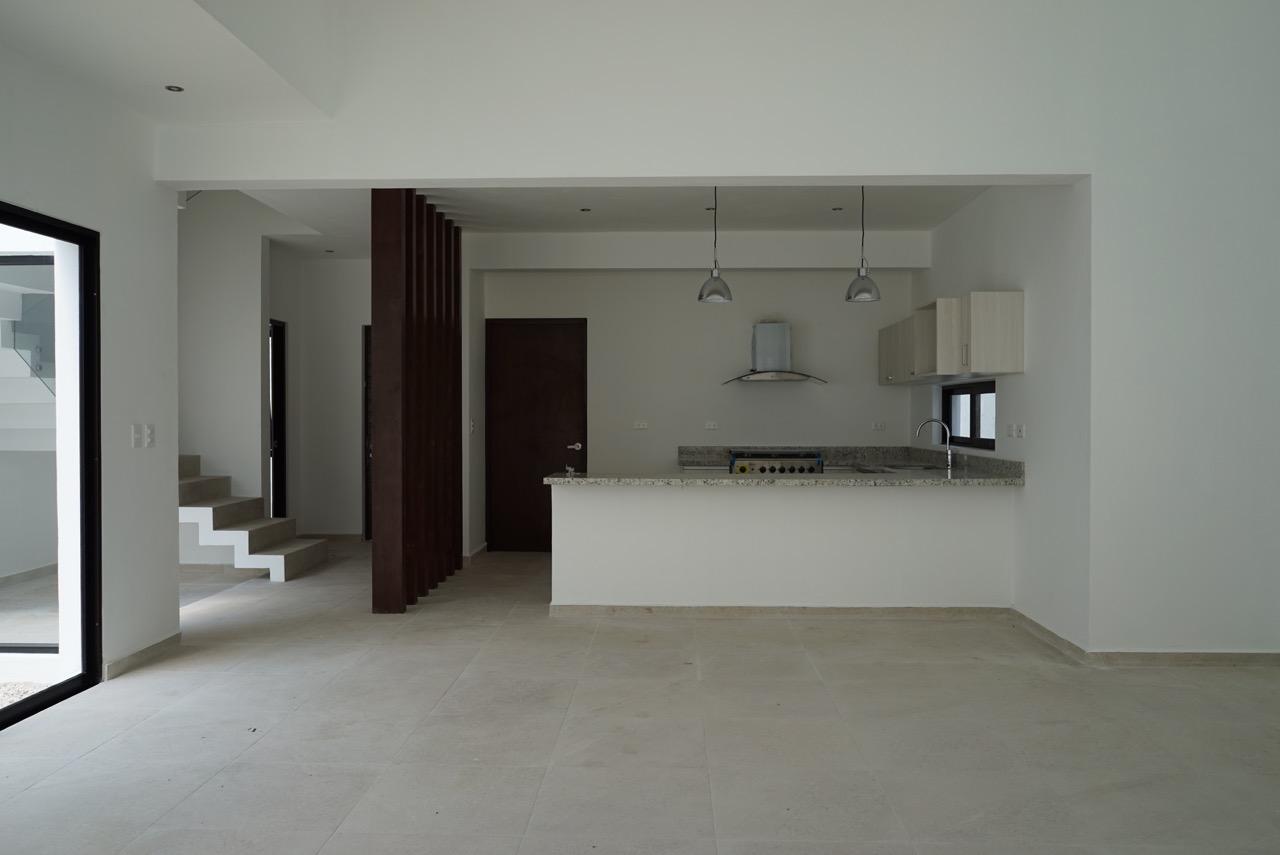 Vista barra cocina